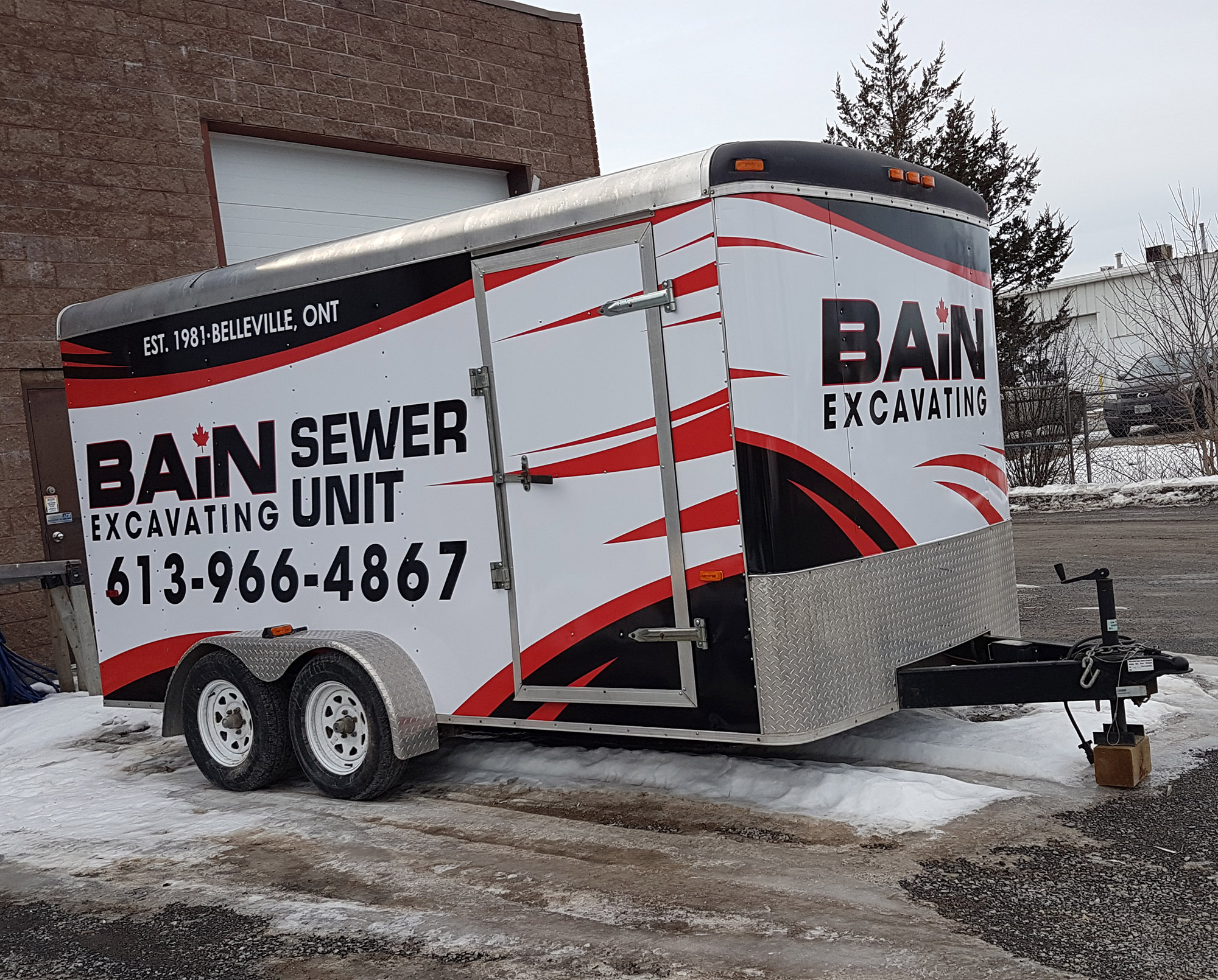 Bain Excavating Trailer