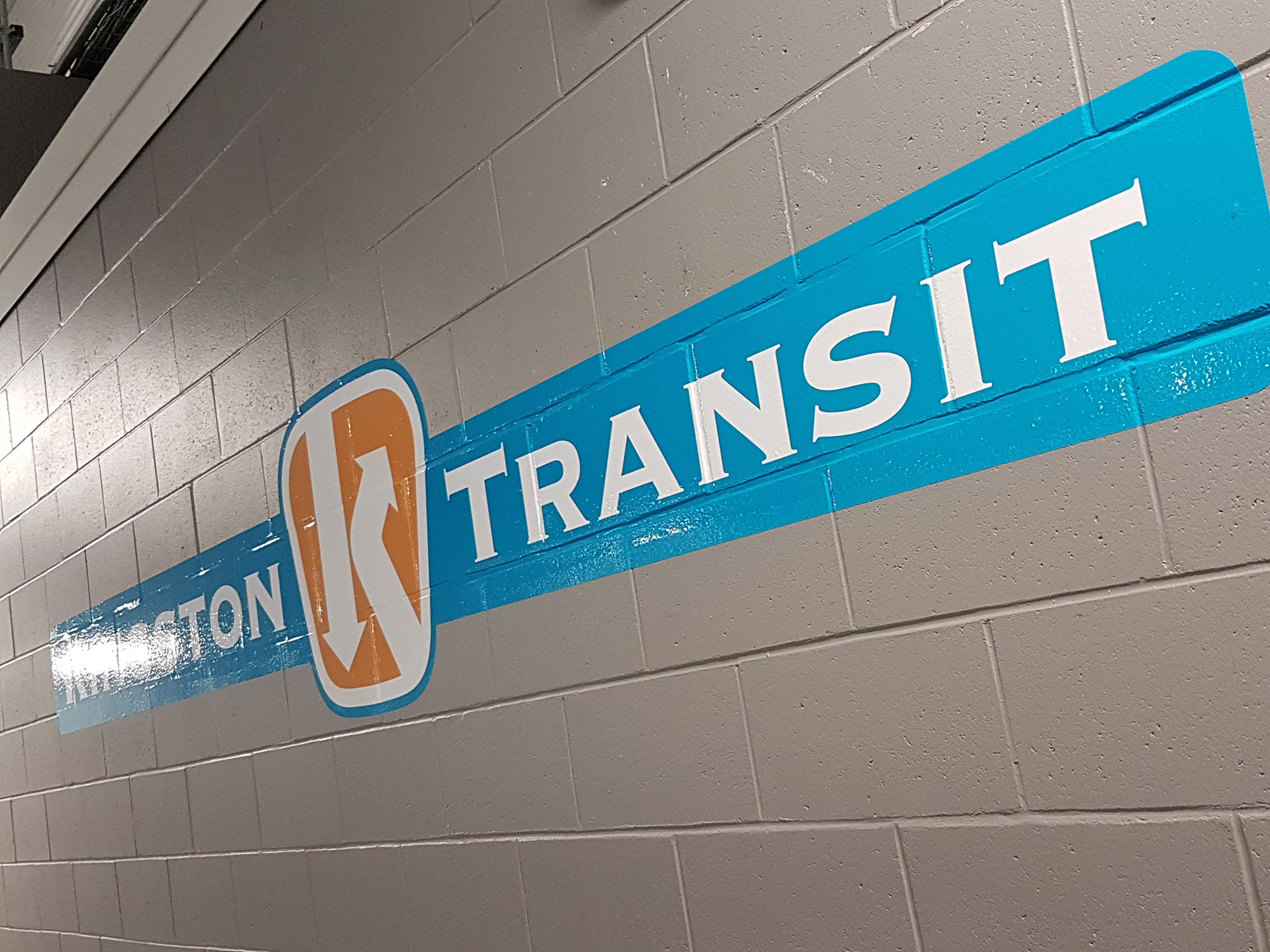 Kingston transit Brick Wall Graphic
