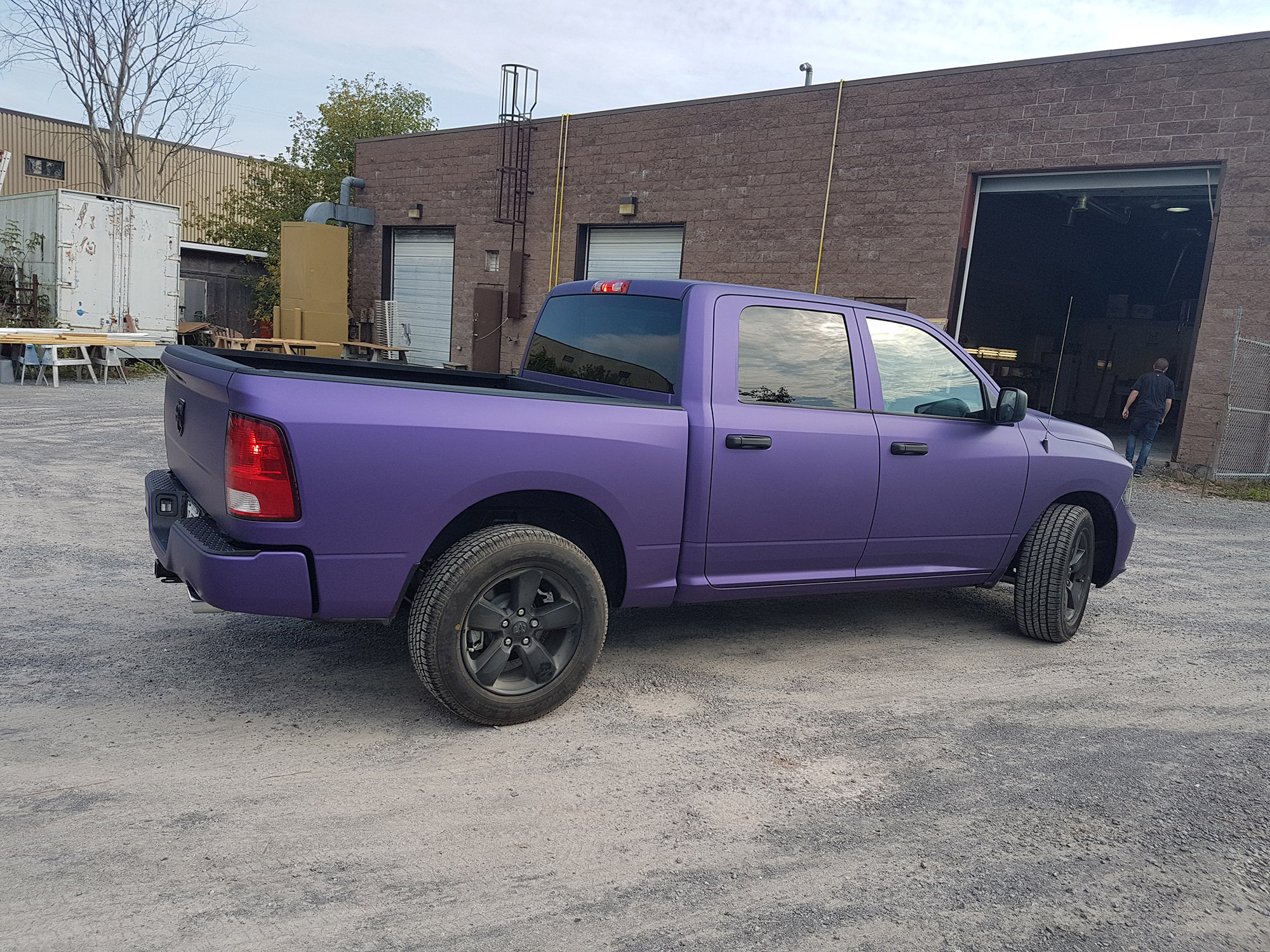 Purple Full Wrap Dodge Ram 1500