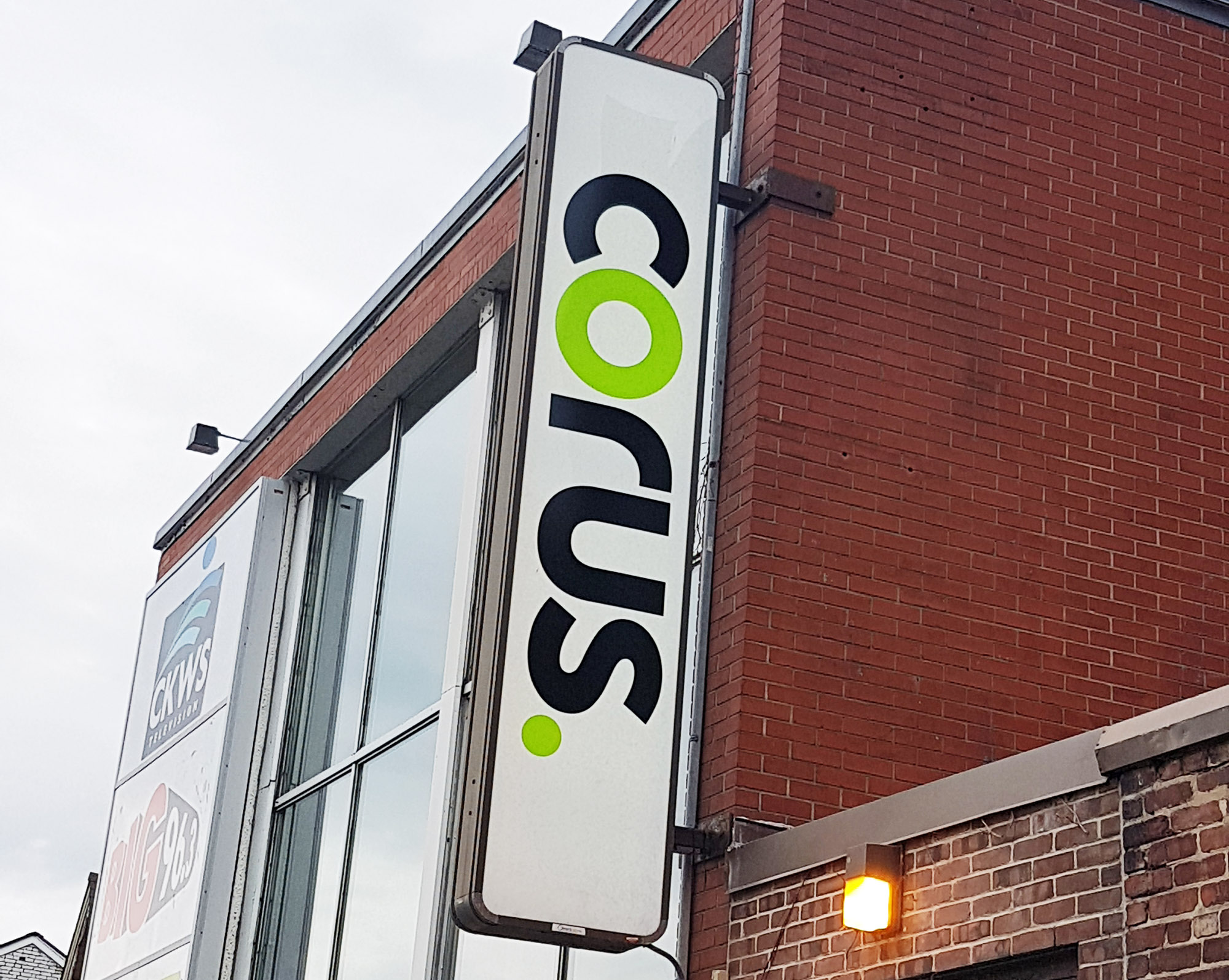 Corus Media backlit Sign