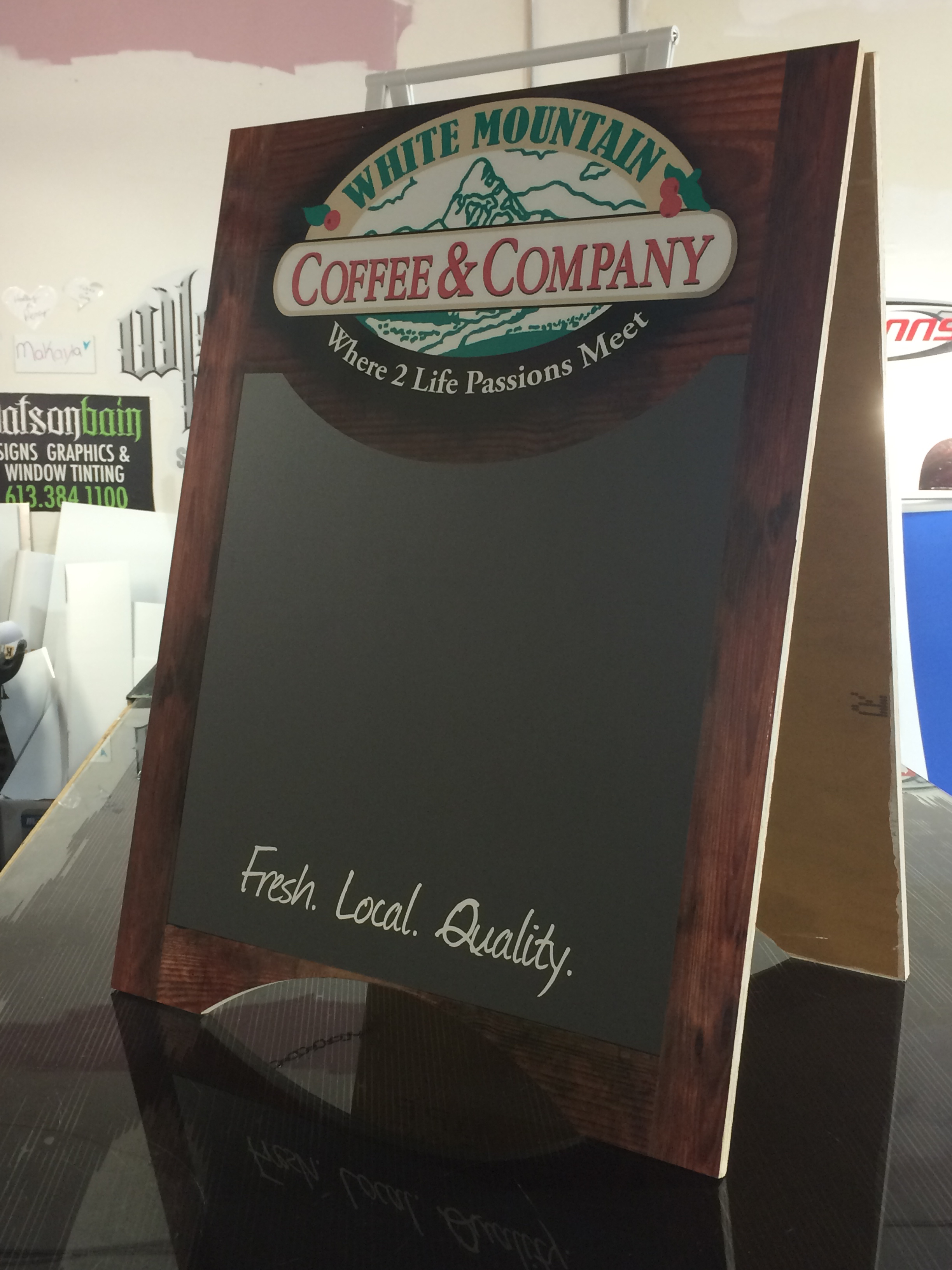 Coffee & Company Stand Sign