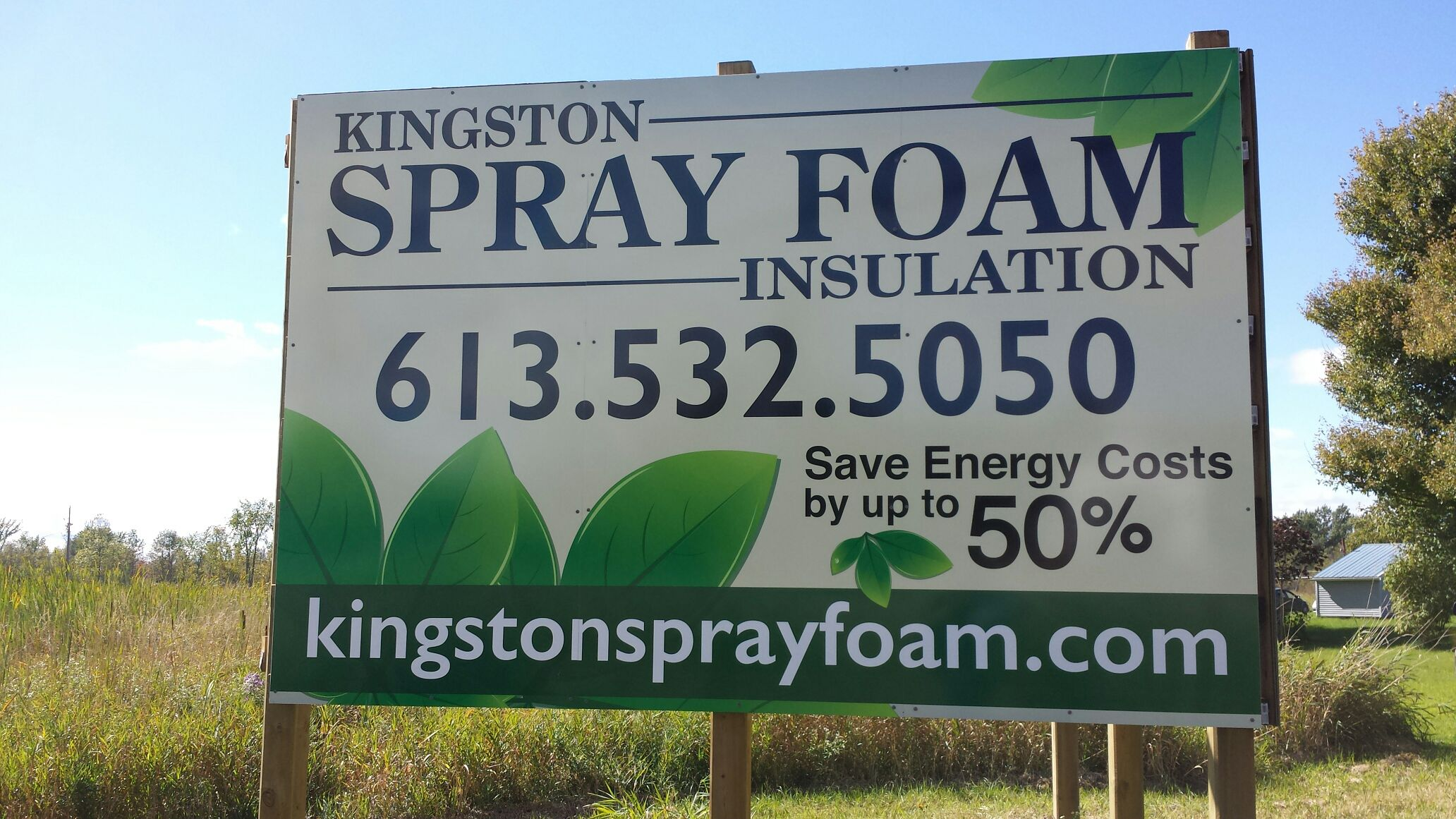 Kingston Spray Foam large frame sign