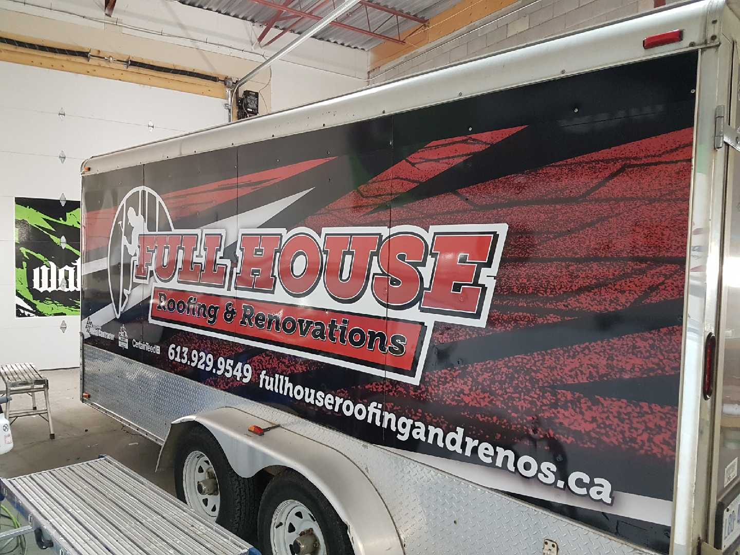 Full House Roofing Trailer
