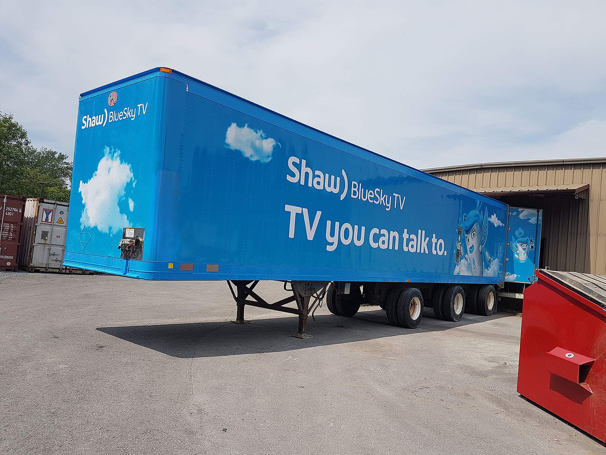 Shaw Cable Transport Trailer